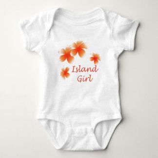 Hawaiian Island Girl Floral Luau Infants Tee Shirt