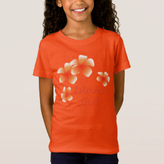 Hawaiian Island Girl Tropical Floral Luau T-Shirt
