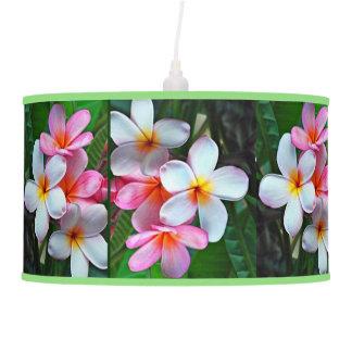 Hawaiian Island Plumeri Tropical Flowers Lamp