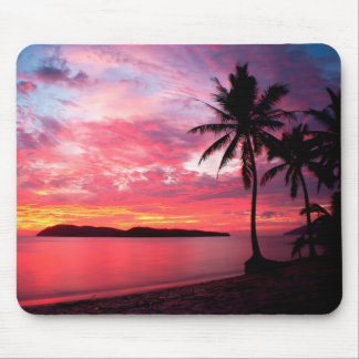 Hawaiian Island Sunset Mouse Pad