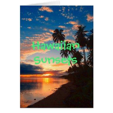 Hawaiian Themed Hawaiian Island Tropical Sunset Card