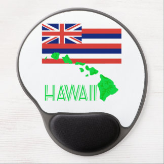 Hawaiian Islands And Flag Gel Mouse Pad