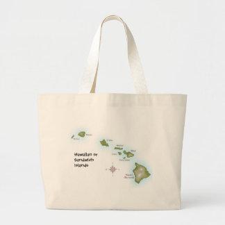 Hawaiian Islands Large Tote Bag