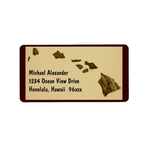 Hawaiian Islands Map Label