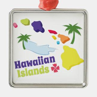 Hawaiian Islands Metal Ornament