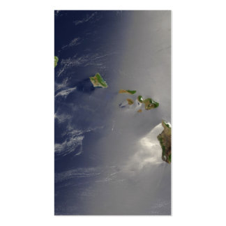 Hawaiian Islands Satellite View Business Card