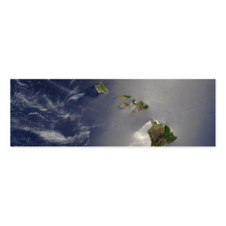 Hawaiian Islands Satellite View Business Cards