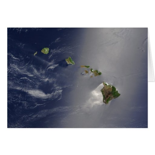 Hawaiian Islands Satellite View Stationery Note Card