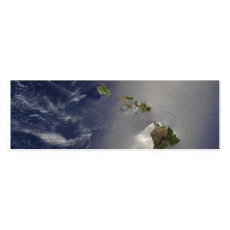 Hawaiian Islands Satellite View Mini Business Card