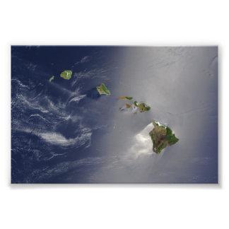 Hawaiian Islands Satellite View Photo Print