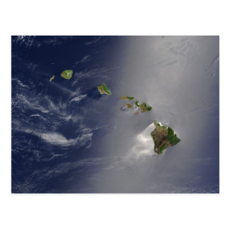 Hawaiian Islands Satellite View Postcard