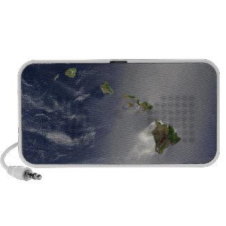 Hawaiian Islands Satellite View Mini Speakers