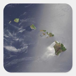 Hawaiian Islands Square Sticker
