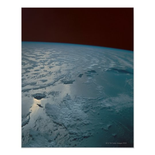 Hawaiian Islands Taken from the Space Shuttle Poster