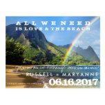 Hawaiian Islands Wedding Save the Date Postcards