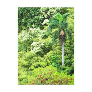 Hawaiian Themed Hawaiian Jungle Canvas Print
