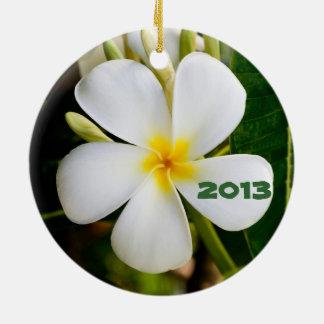 Hawaiian Keepsake Double-Sided Ceramic Round Christmas Ornament