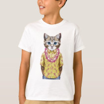 Hawaiian Kitty Cat T-Shirt
