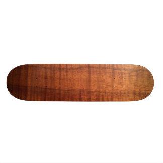 Hawaiian Koa Wood Design Skateboard