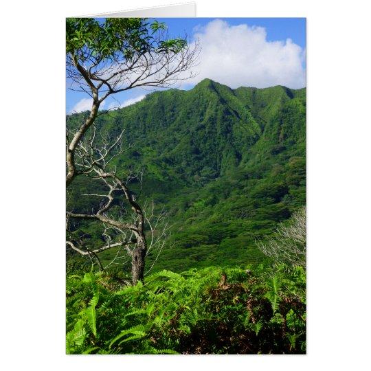 Hawaiian Ko'olau Mountains Card