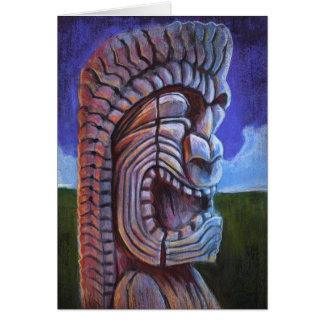 Hawaiian Ku Tiki Greeting Card