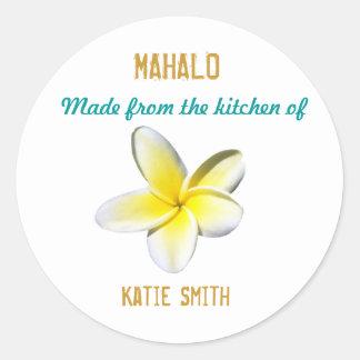 Hawaiian Label Classic Round Sticker