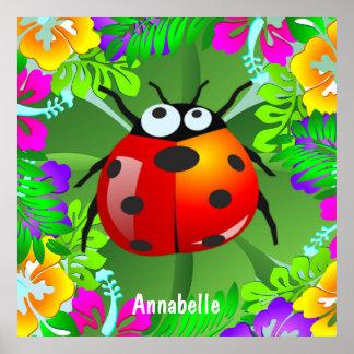 Hawaiian lady bug poster