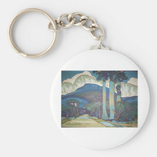 Hawaiian Landscape by Arman Manookian, 1928 Key Chain