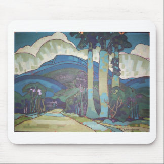 Hawaiian Landscape by Arman Manookian, 1928 Mouse Pad