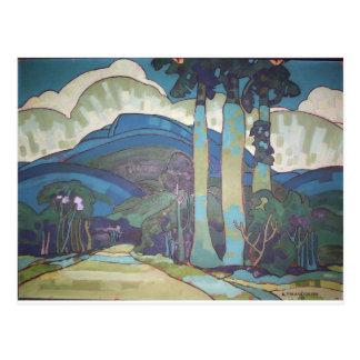Hawaiian Landscape by Arman Manookian, 1928 Postcard