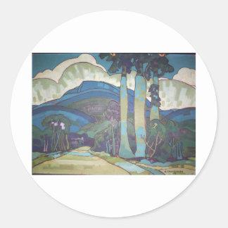 Hawaiian Landscape by Arman Manookian, 1928 Sticker