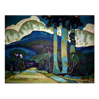 Hawaiian Landscape painting Postcard