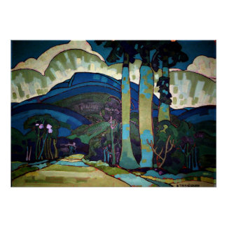 Hawaiian Landscape painting Poster