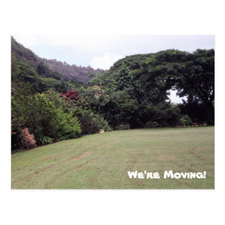 Hawaiian Landscape We're Moving Postcard