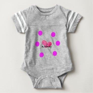 Hawaiian Themed Hawaiian Language of Love Design Baby Bodysuit