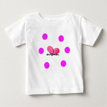 Hawaiian Themed Hawaiian Language of Love Design Baby T-Shirt