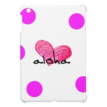Hawaiian Themed Hawaiian Language of Love Design Case For The iPad Mini