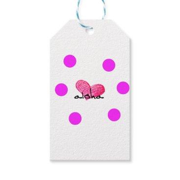 Hawaiian Themed Hawaiian Language of Love Design Gift Tags