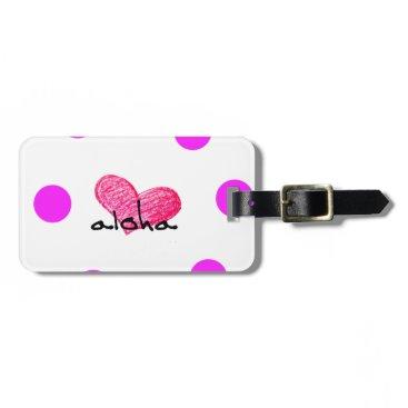 Hawaiian Themed Hawaiian Language of Love Design Luggage Tag