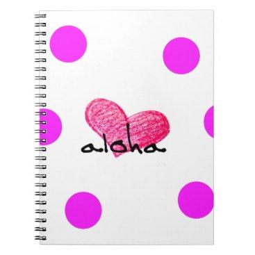 Hawaiian Themed Hawaiian Language of Love Design Notebook