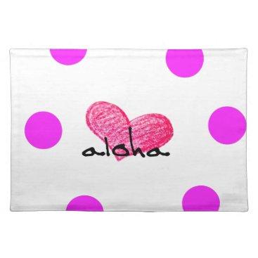 Hawaiian Themed Hawaiian Language of Love Design Placemat