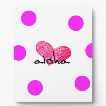 Hawaiian Themed Hawaiian Language of Love Design Plaque