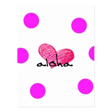 Hawaiian Themed Hawaiian Language of Love Design Postcard