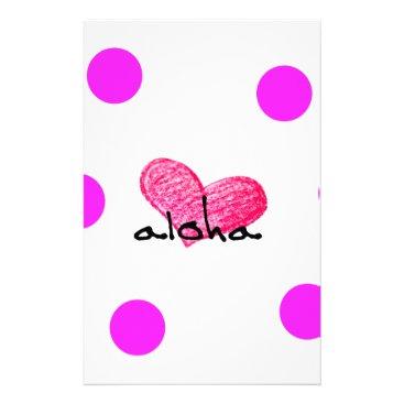 Hawaiian Themed Hawaiian Language of Love Design Stationery