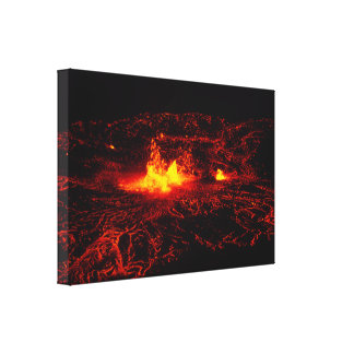 Hawaiian Lava Flow Stretched Canvas Prints