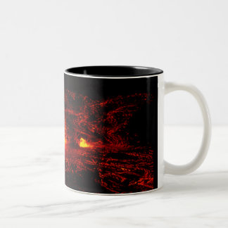 Hawaiian Lava Flow Two-Tone Coffee Mug