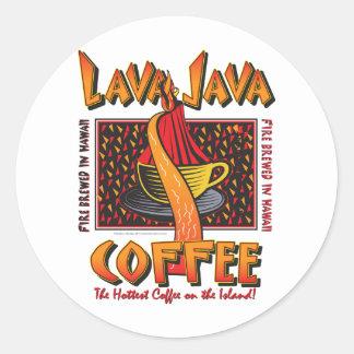Hawaiian Lava Java Coffee Classic Round Sticker