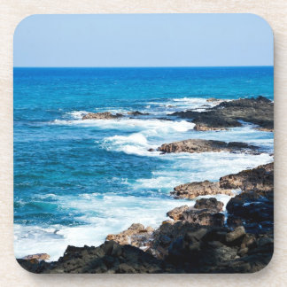 Hawaiian Lava Ocean Coast Line Hawaii Waves Beverage Coaster