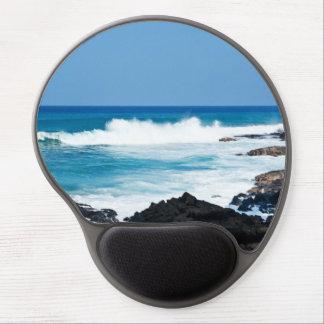 Hawaiian Lava Ocean Coast Line Hawaii Waves Gel Mouse Pad