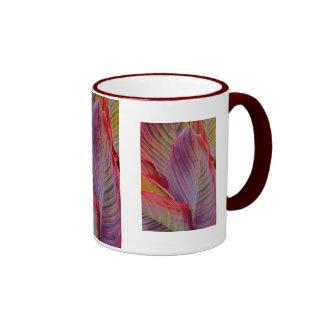 Hawaiian Leaves Ringer Mug